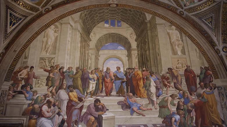 Roma Musei Vaticani Stanze di Raffaello Scuola di Atene