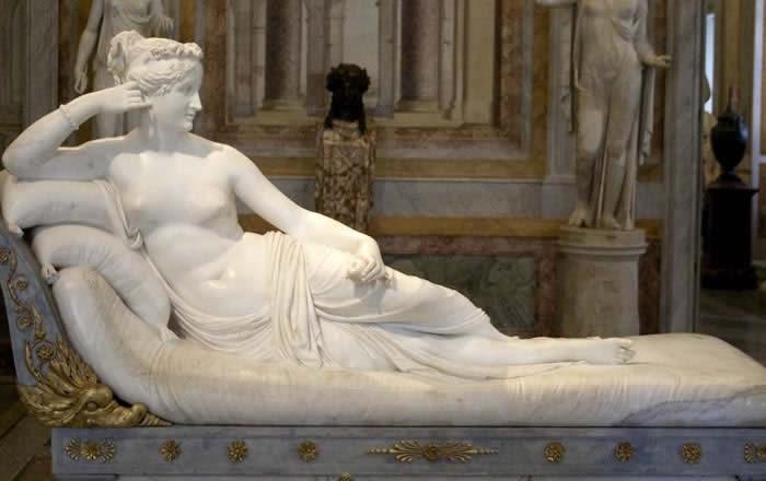 Roma Galleria Borghese Canova Paolina Borghese
