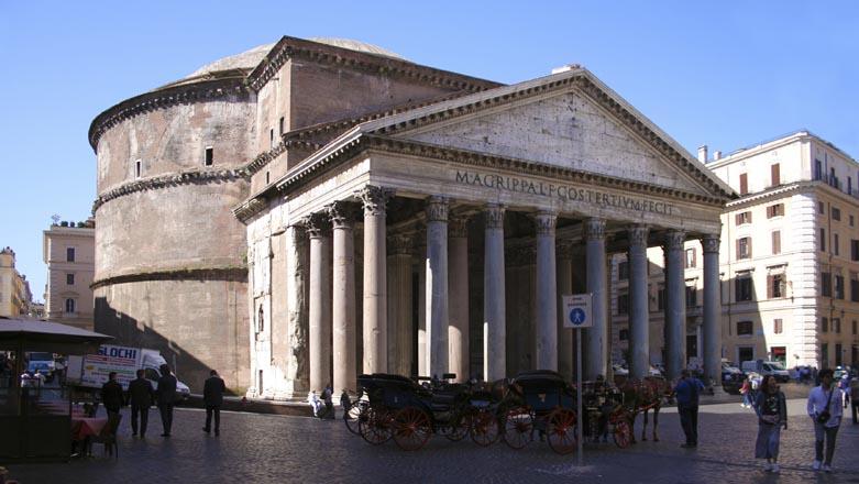 Visita guidata a roma fontana di trevi piazza navona for Esterno pantheon