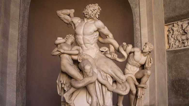 Roma Musei Vaticani gruppo scultoreo del Laocoonte